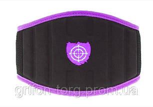 Неопреновий Пояс для важкої атлетики Power System woman's Power PS-3210 Purple XS, фото 3