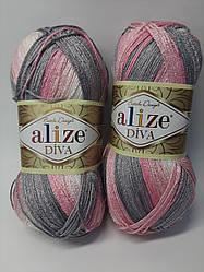 Пряжа для ручного та машинного в'язання (річна) diva batik alize/діва батік алізе