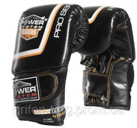 Снарядні рукавички, битки Power System PS 5003 Bag Gloves Storm M Black, фото 2