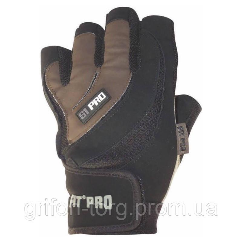 Рукавички для важкої атлетики Power System S1 Pro FP-03 Black/Brown L