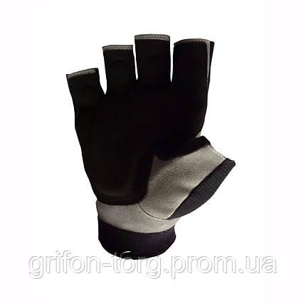 Рукавички для важкої атлетики Power System S1 Pro FP-03 Black/Brown L, фото 2