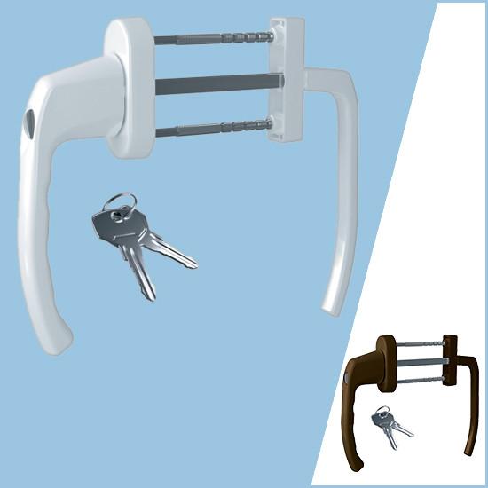 Ручка балконная Antey BHS 2/3 с ключом