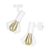 Светильник лофт MSK Electric Diadem настенно-потолочный NL 22151-1W белый, фото 1