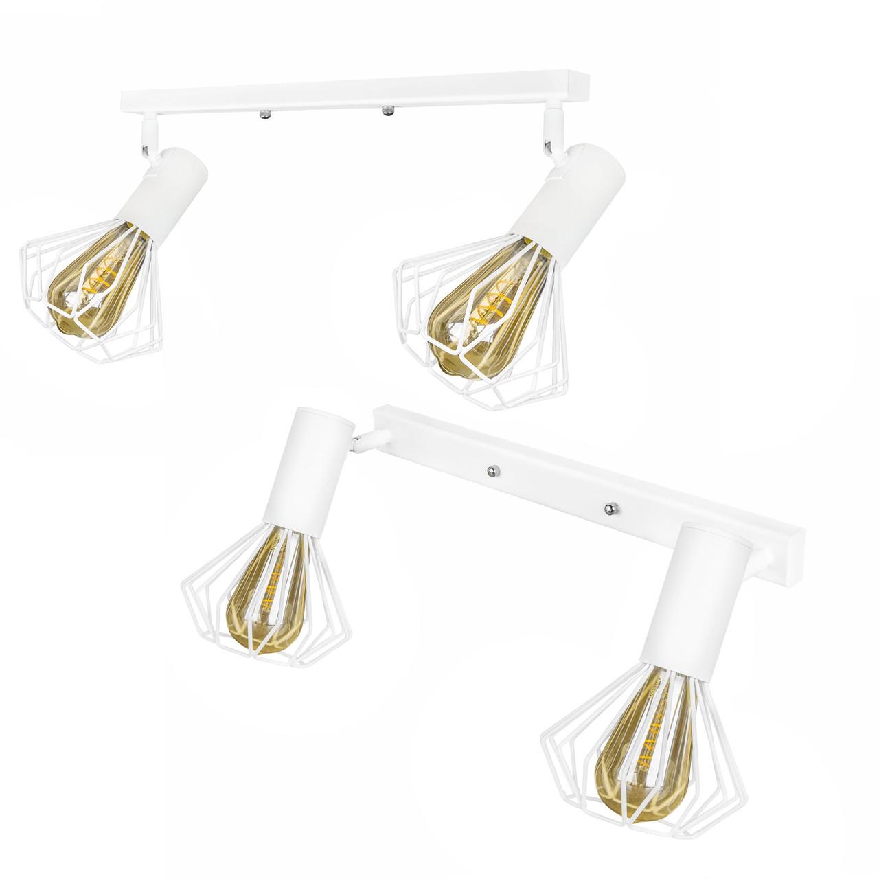 Світильник лофт MSK Electric Diadem настінно-стельовий NL 22151-2W білий