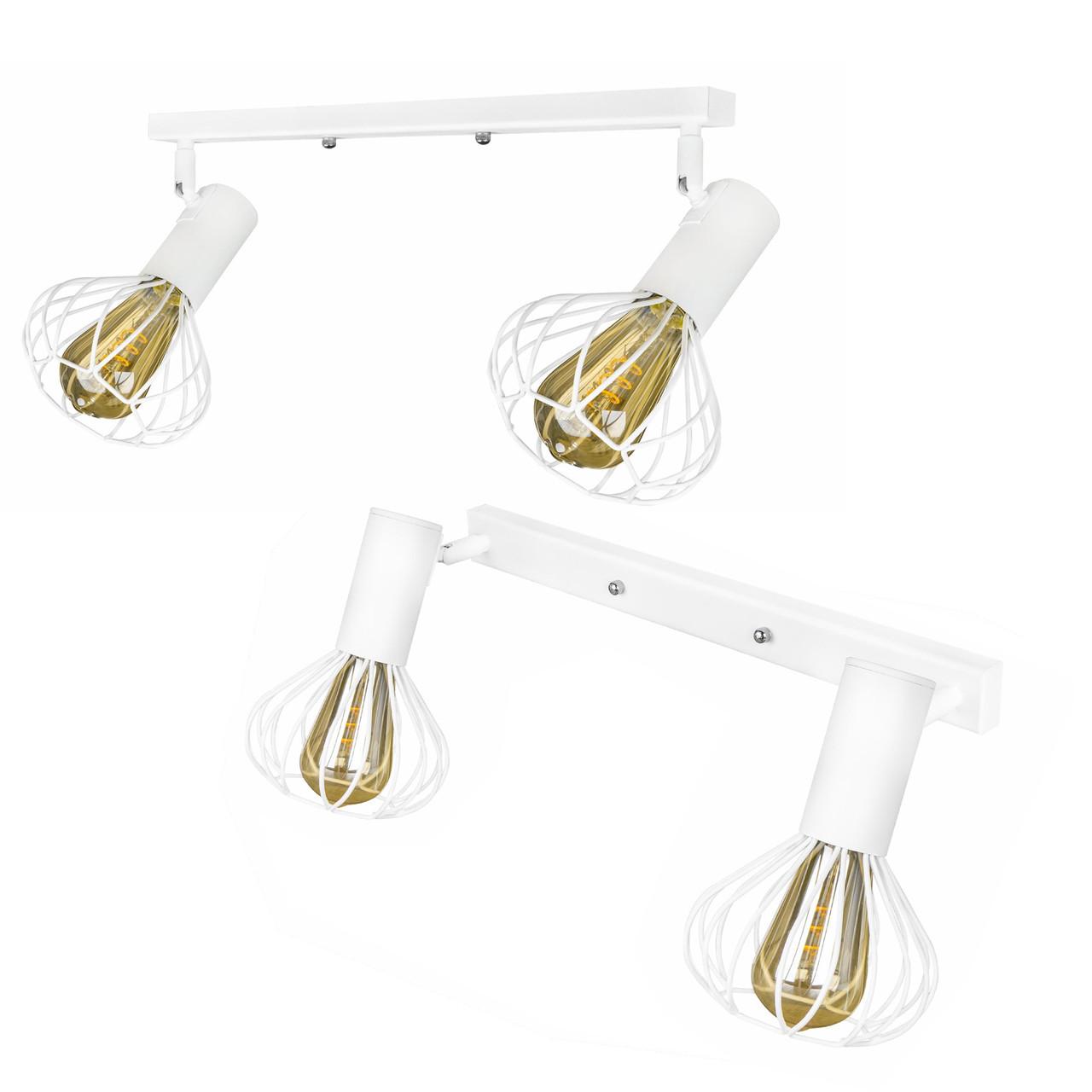 Светильник лофт настенно-потолочный MSK Electric Lotus NL 14151-2 WH
