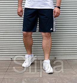 Тёмно-синие мужские шорты Adidas БАТАЛ | Турция | трикотаж лакоста