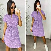 Жіноче легке плаття з софта (4 кольори)