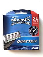 Лезвия Wilkinson Sword (Schick) Quattro упаковка 6 штук, фото 1