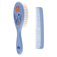 Щетка и расческа для волос синяя NIP (4000821370753)