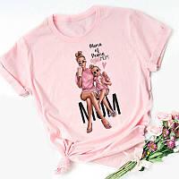 Женские футболки - FD-5437-мас - Стильная модная молодежная женская футболка в стиле Family look