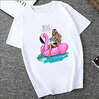 Женские футболки - FD-5438-мас - Классная модная молодежная женская футболка