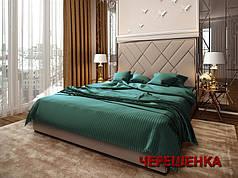 Двуспальный набор постельного белья 180*220 из Страйп Сатина №546114 KRISPOL™