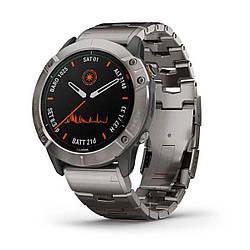 Мультиспортивные часы GARMIN Fenix 6X Pro Solar Titanium with Vented Titanium Bracelet