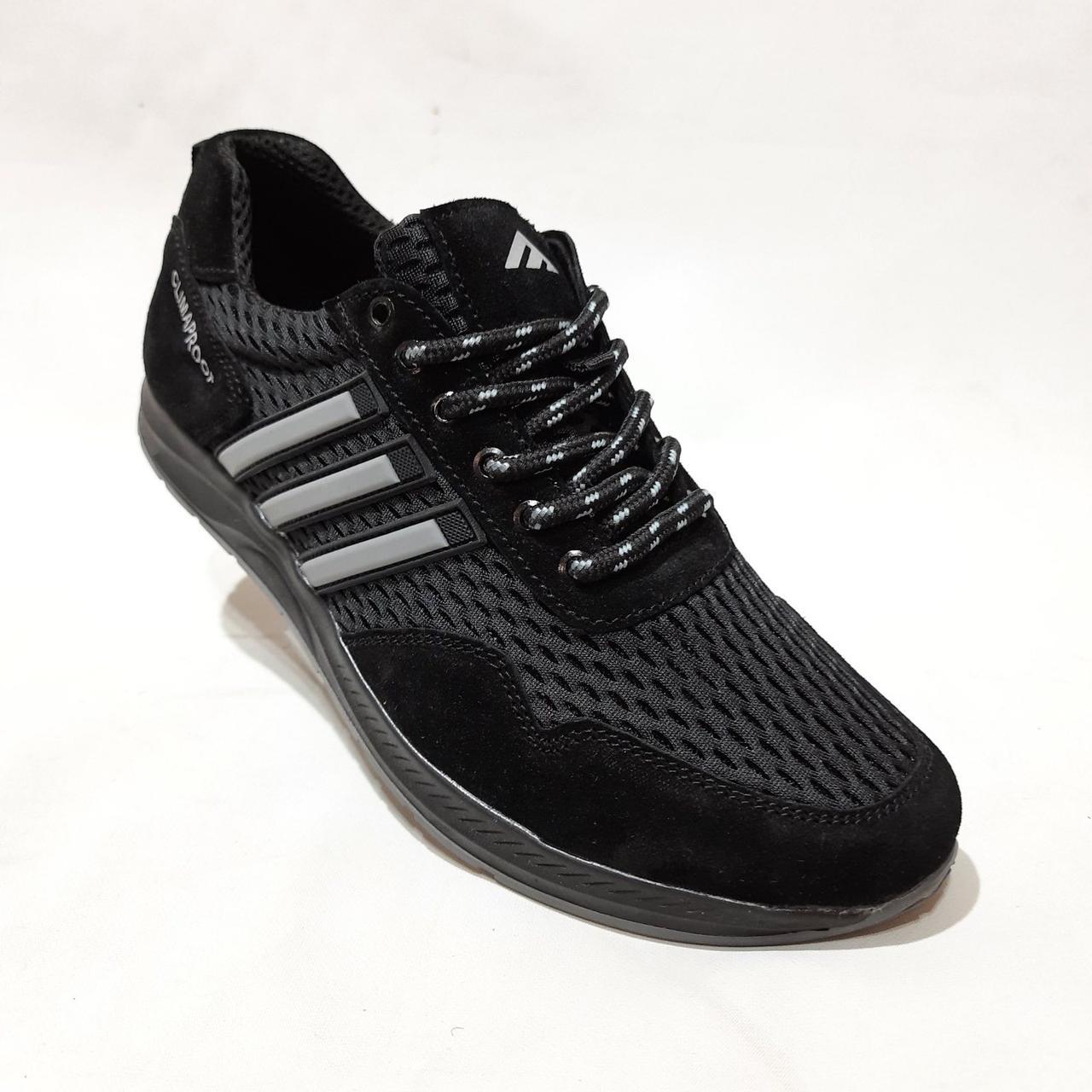 Літні чоловічі кросівки Adidas Climaproof (репліка) текстиль легкі Чорні