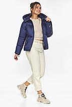 Куртка на змійці жіноча колір синій оксамит модель 46280, фото 3