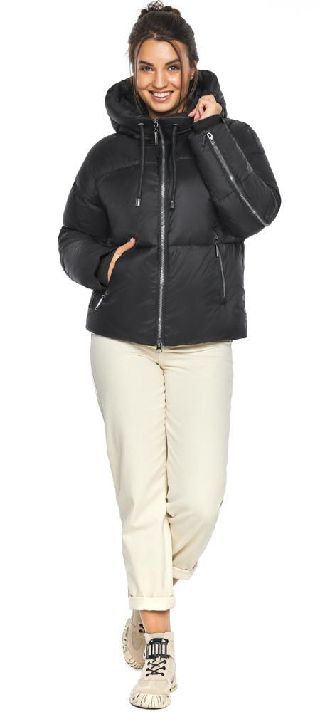 Куртка жіноча чорна коротка модель 46280