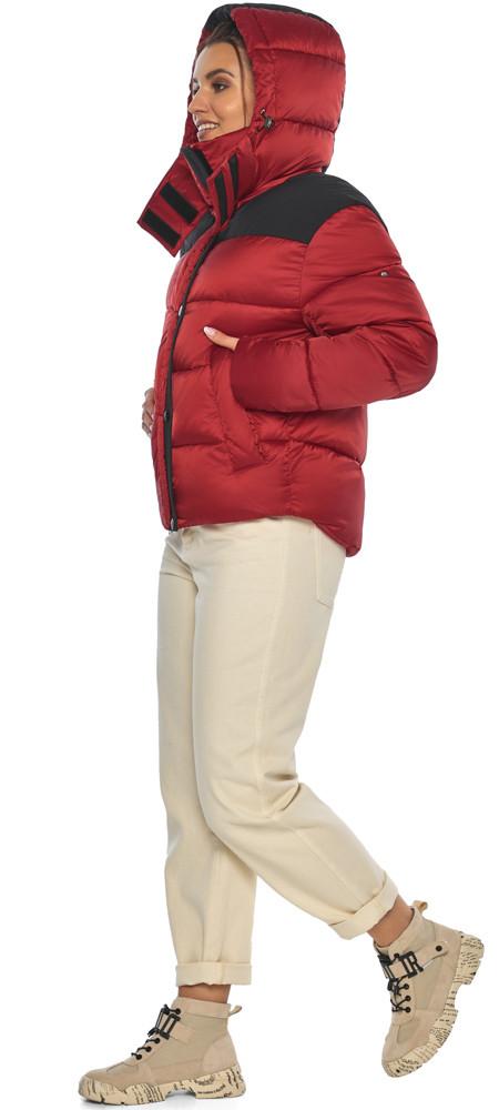 Рубиновая куртка трендовая женская модель 57520