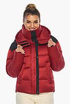Рубиновая куртка трендовая женская модель 57520, фото 3
