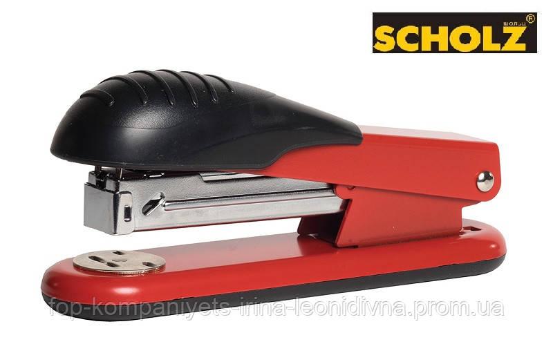 Степлер SCHOLZ (скобі №24/6, 26/6) метал., 30л, червоний