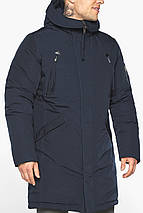 Куртка – воздуховик чоловічий модний зимовий темно-синій модель 30675, фото 3