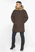Куртка – воздуховик тёплый мужской для зимы коричневый модель 30975, фото 2