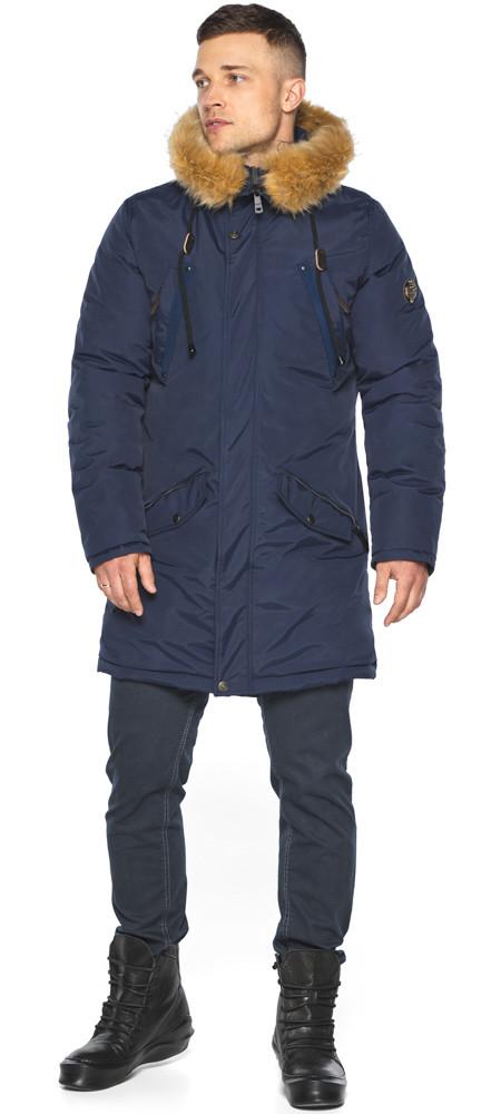 Куртка – воздуховик темно-синій для чоловіків зимовий модель 30618