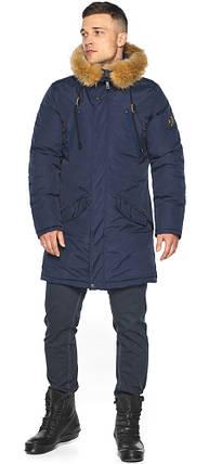 Куртка – воздуховик темно-синій для чоловіків зимовий модель 30618, фото 2