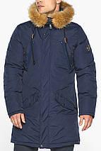 Куртка – воздуховик темно-синій для чоловіків зимовий модель 30618, фото 3