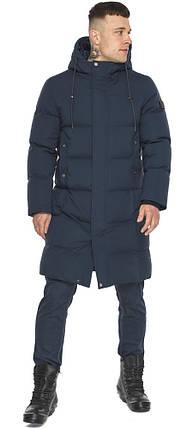 Мужская зимняя куртка универсального силуэта тёмно-синяя модель 49010, фото 2