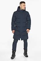 Чоловіча зимова куртка універсального силуету темно-синя модель 49010, фото 2
