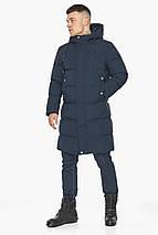 Чоловіча зимова куртка універсального силуету темно-синя модель 49010, фото 3