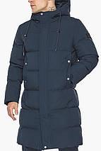 Мужская зимняя куртка универсального силуэта тёмно-синяя модель 49010, фото 3