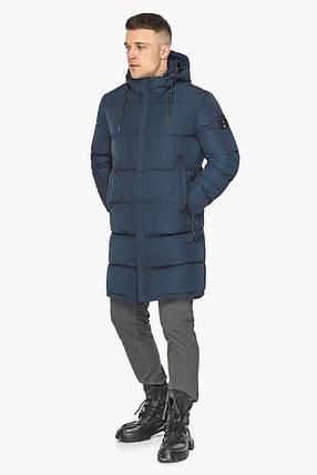 Комфортная зимняя куртка синяя модель 49609, фото 2