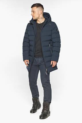 Зимова чоловіча куртка з капюшоном темно-синя модель 49080, фото 2