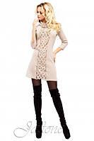 """ТОП ПРОДАЖ! Стильное платье туника сочетает тренды  перфорацию и ворот хомут """"Манго"""" РАЗНЫЕ ЦВЕТА!"""