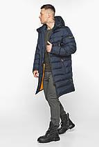Мужская тёмно-синяя утеплённая куртка на зиму модель 49808, фото 2