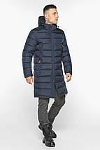 Чоловіча темно-синя куртка утеплена на зиму модель 49808, фото 3