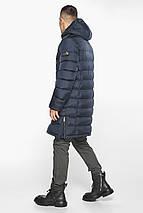 Чоловіча темно-синя куртка утеплена на зиму модель 49808, фото 2