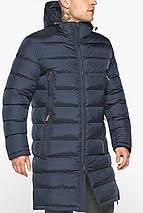 Мужская тёмно-синяя утеплённая куртка на зиму модель 49808, фото 3