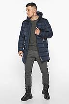 Тёмно-синяя зимняя практичная куртка модель 49008, фото 3