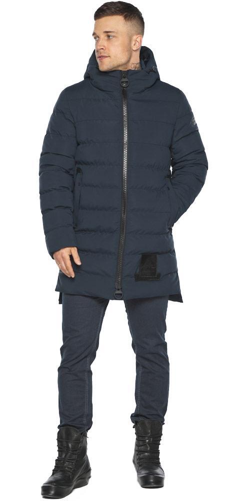 Куртка для стильного чоловіка зимова темно-синя модель 49022