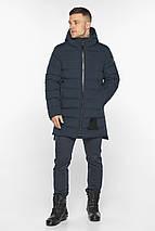 Куртка для стильного чоловіка зимова темно-синя модель 49022, фото 2