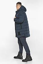 Куртка для стильного чоловіка зимова темно-синя модель 49022, фото 3