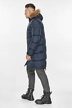 Практичная куртка тёмно-синяя мужская для зимы модель 49318, фото 3