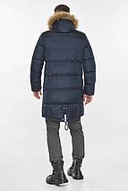 Практичная куртка тёмно-синяя мужская для зимы модель 49318, фото 2