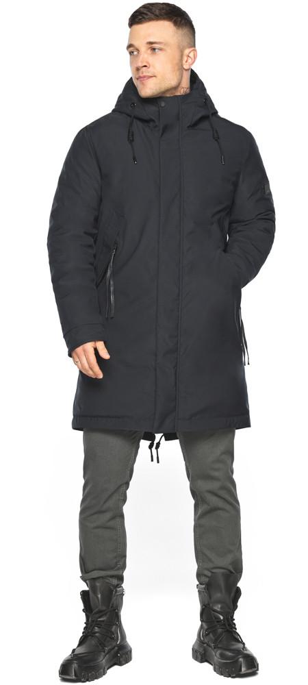 Куртка – воздуховик чёрный удобный зимний для мужчин модель 30931