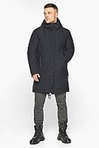 Куртка – воздуховик чёрный удобный зимний для мужчин модель 30931, фото 2