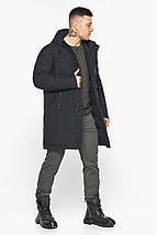 Куртка – воздуховик чёрный удобный зимний для мужчин модель 30931, фото 3