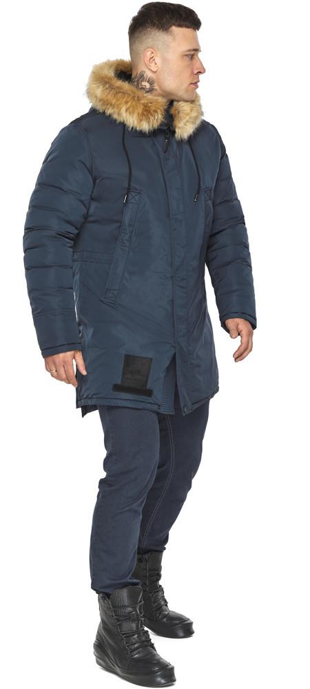 Куртка – воздуховик темно-синій утеплений чоловічий зимовий модель 30551
