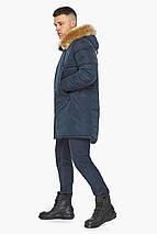 Куртка – воздуховик темно-синій утеплений чоловічий зимовий модель 30551, фото 3